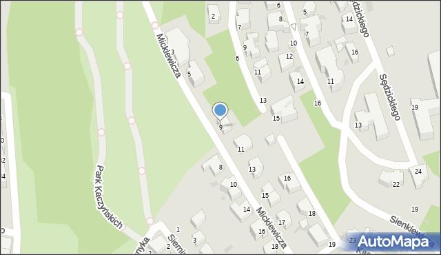Gdynia, Mickiewicza Adama, 9, mapa Gdyni