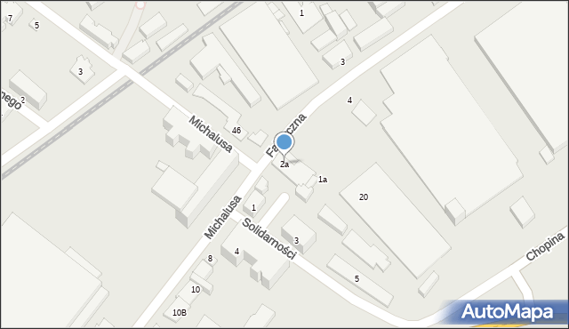 Gorlice, Michalusa Józefa, 2a, mapa Gorlic