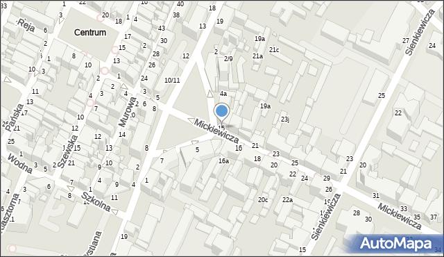 Grudziądz, Mickiewicza Adama, 15, mapa Grudziądza