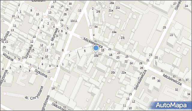 Grudziądz, Mickiewicza Adama, 16a, mapa Grudziądza
