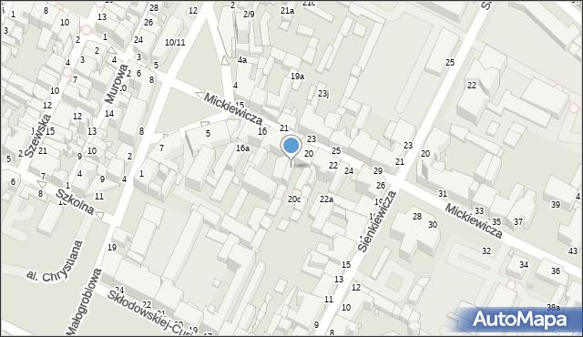 Grudziądz, Mickiewicza Adama, 18c, mapa Grudziądza