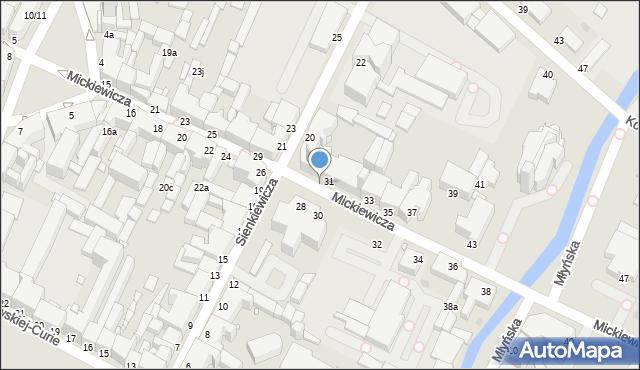 Grudziądz, Mickiewicza Adama, 24c, mapa Grudziądza