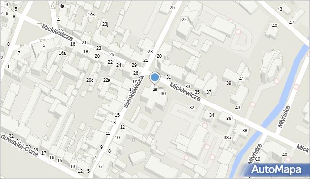 Grudziądz, Mickiewicza Adama, 28, mapa Grudziądza