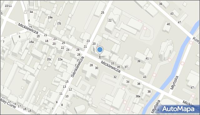 Grudziądz, Mickiewicza Adama, 31, mapa Grudziądza