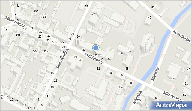 Grudziądz, Mickiewicza Adama, 33, mapa Grudziądza
