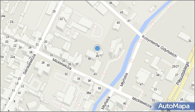 Grudziądz, Mickiewicza Adama, 41, mapa Grudziądza
