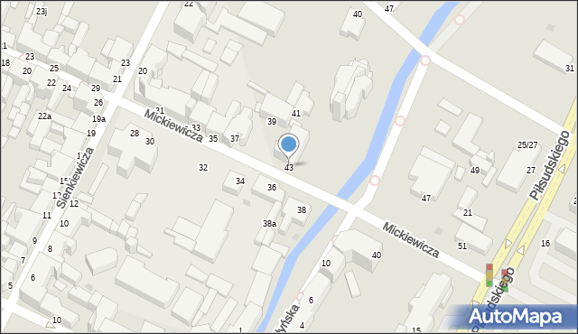 Grudziądz, Mickiewicza Adama, 43, mapa Grudziądza