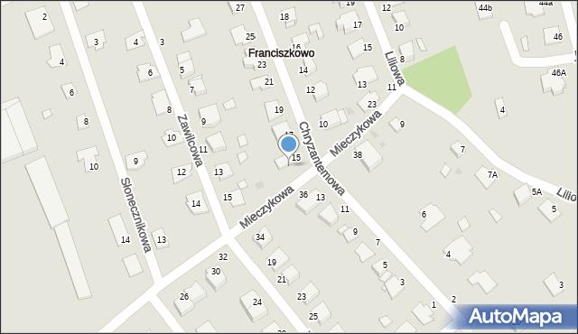 Grudziądz, Mieczykowa, 19, mapa Grudziądza