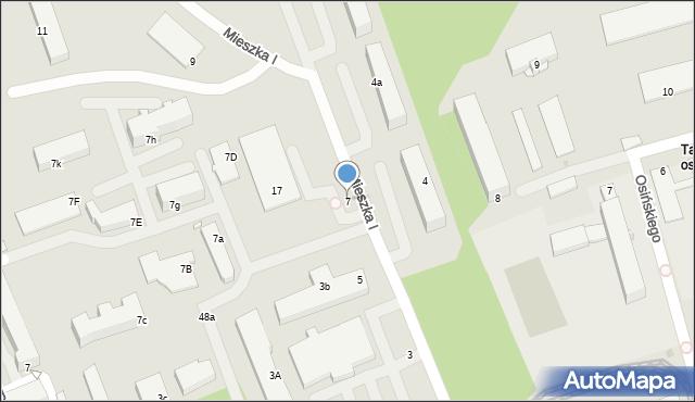 Grudziądz, Mieszka I, 7, mapa Grudziądza