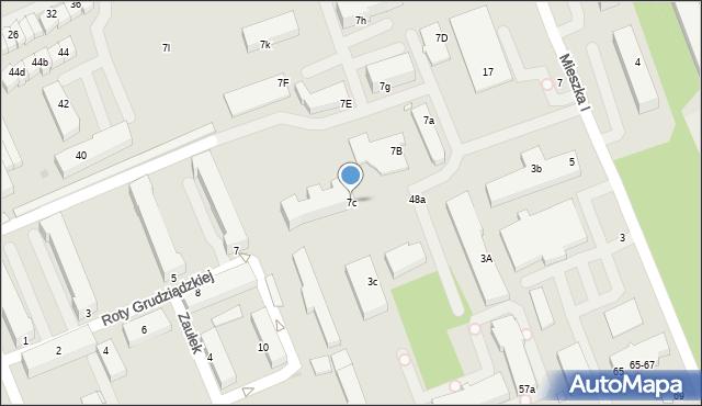 Grudziądz, Mieszka I, 7c, mapa Grudziądza