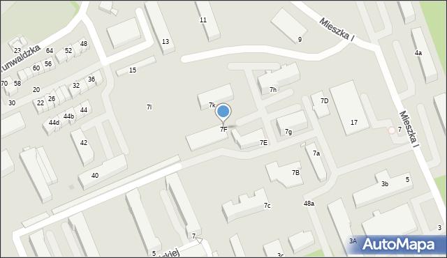 Grudziądz, Mieszka I, 7F, mapa Grudziądza
