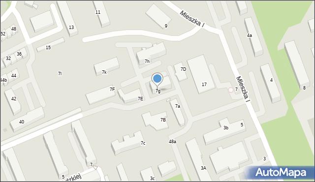 Grudziądz, Mieszka I, 7g, mapa Grudziądza