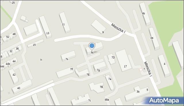 Grudziądz, Mieszka I, 7h, mapa Grudziądza