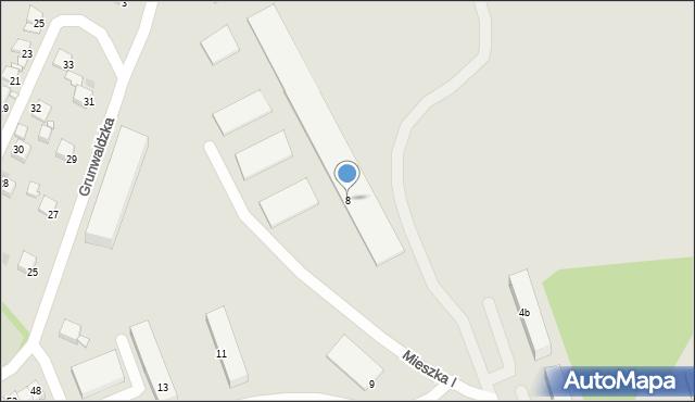 Grudziądz, Mieszka I, 8, mapa Grudziądza