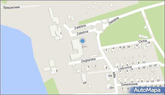 Grudziądz, Miła, 2, mapa Grudziądza