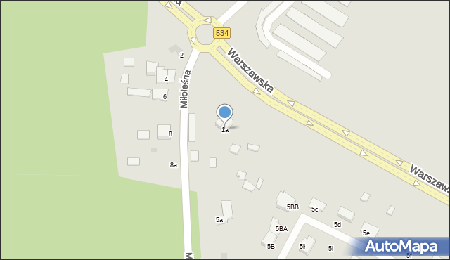 Grudziądz, Miłoleśna, 1a, mapa Grudziądza