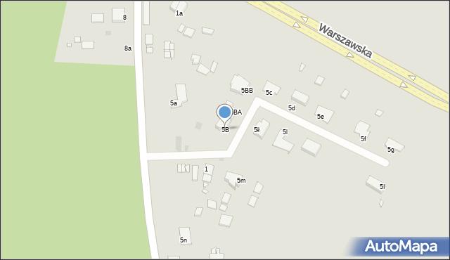 Grudziądz, Miłoleśna, 5B, mapa Grudziądza