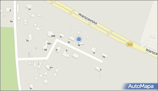 Grudziądz, Miłoleśna, 5e, mapa Grudziądza