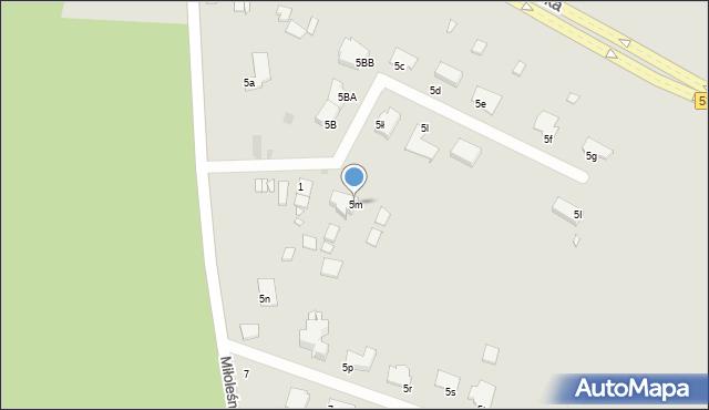 Grudziądz, Miłoleśna, 5m, mapa Grudziądza