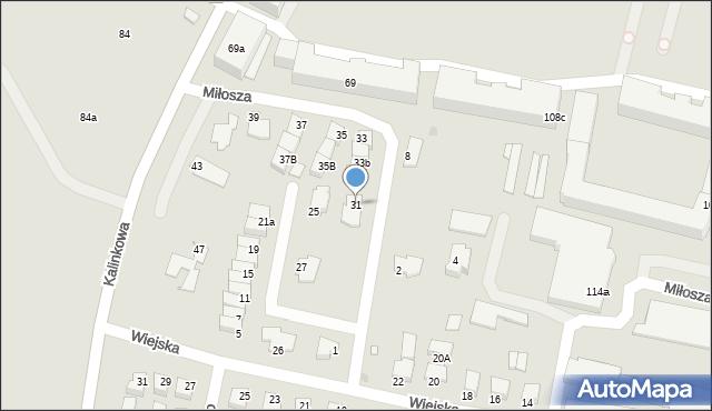 Grudziądz, Miłosza Czesława, 31, mapa Grudziądza