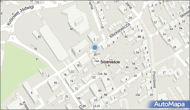 Jaworzno, Mickiewicza Adama, 15, mapa Jaworzno