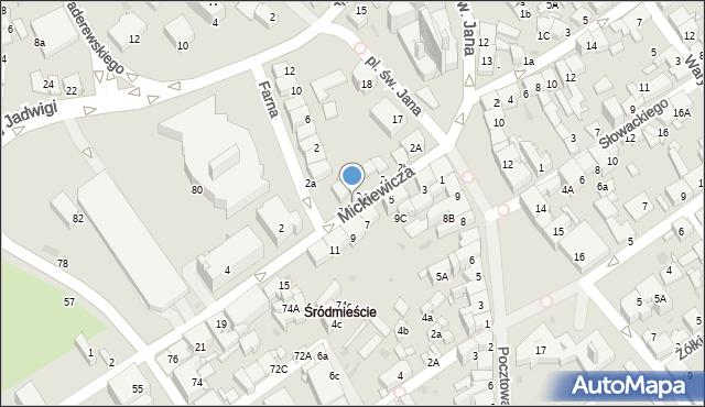 Jaworzno, Mickiewicza Adama, 2f, mapa Jaworzno