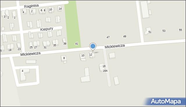 Jedwabne, Mickiewicza Adama, 14, mapa Jedwabne