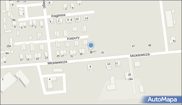 Jedwabne, Mickiewicza Adama, 39, mapa Jedwabne