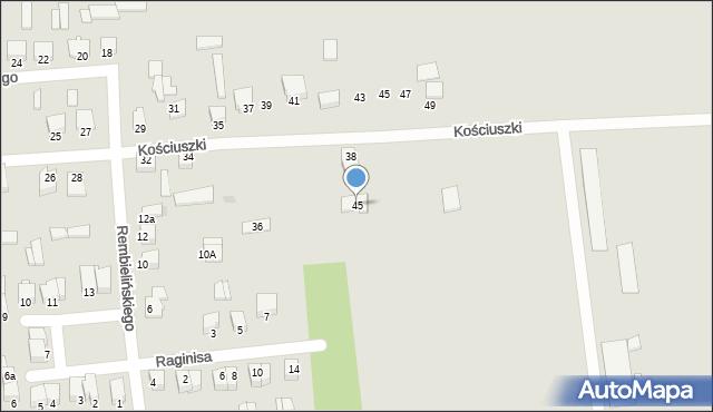 Jedwabne, Mickiewicza Adama, 45, mapa Jedwabne