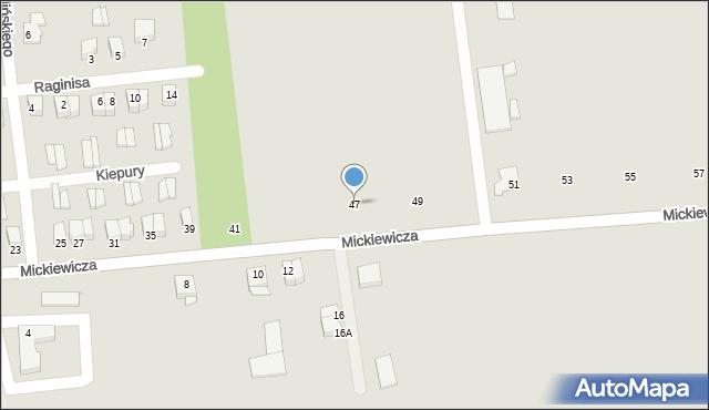 Jedwabne, Mickiewicza Adama, 47, mapa Jedwabne