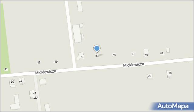 Jedwabne, Mickiewicza Adama, 53, mapa Jedwabne