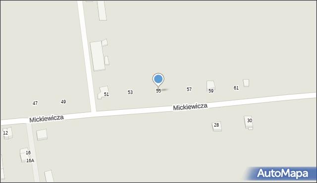 Jedwabne, Mickiewicza Adama, 55, mapa Jedwabne
