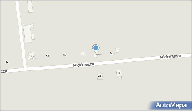 Jedwabne, Mickiewicza Adama, 59, mapa Jedwabne