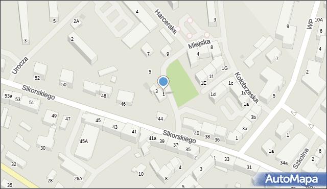 Kętrzyn, Miejska, 1, mapa Kętrzyn