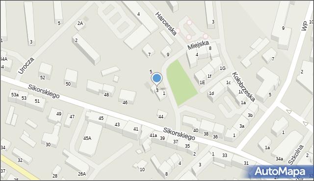 Kętrzyn, Miejska, 3, mapa Kętrzyn