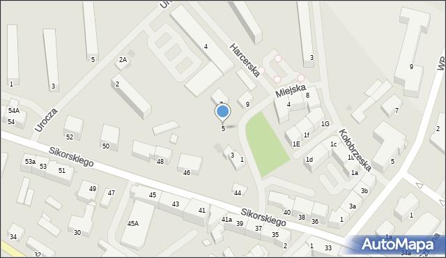 Kętrzyn, Miejska, 5, mapa Kętrzyn