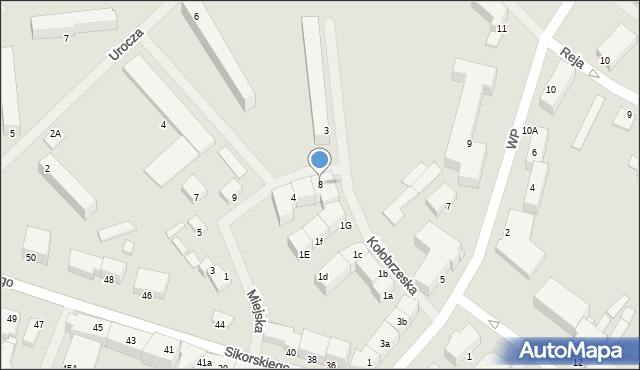 Kętrzyn, Miejska, 8, mapa Kętrzyn