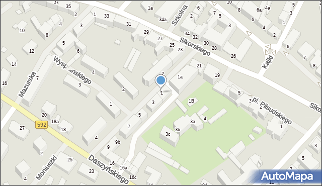 Kętrzyn, Mielczarskiego Romualda, 1, mapa Kętrzyn