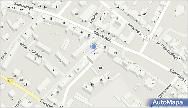Kętrzyn, Mielczarskiego Romualda, 1a, mapa Kętrzyn