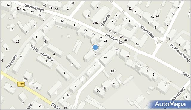 Kętrzyn, Mielczarskiego Romualda, 2, mapa Kętrzyn