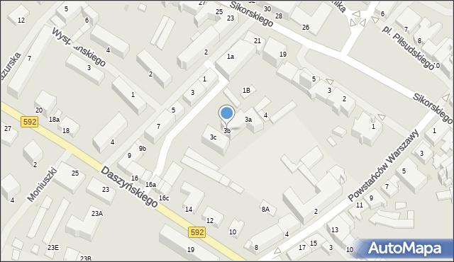 Kętrzyn, Mielczarskiego Romualda, 3b, mapa Kętrzyn