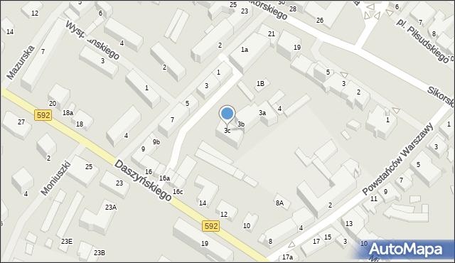 Kętrzyn, Mielczarskiego Romualda, 3c, mapa Kętrzyn