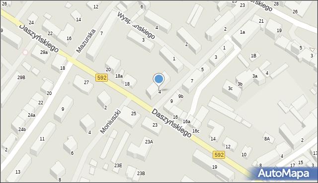 Kętrzyn, Mielczarskiego Romualda, 4, mapa Kętrzyn