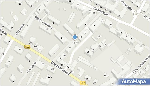 Kętrzyn, Mielczarskiego Romualda, 5, mapa Kętrzyn
