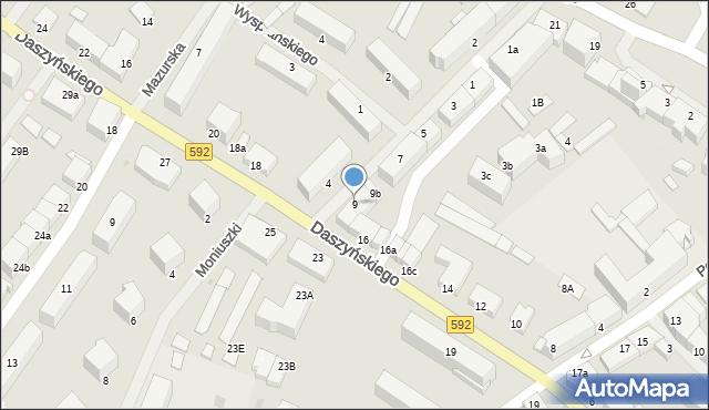 Kętrzyn, Mielczarskiego Romualda, 9, mapa Kętrzyn
