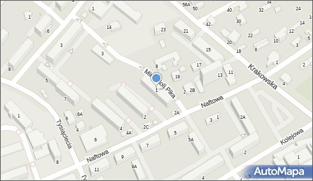 Krosno, Mirandoli Pika, 1, mapa Krosna