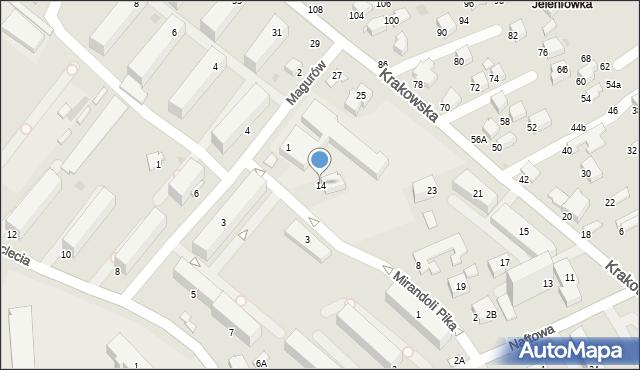 Krosno, Mirandoli Pika, 14, mapa Krosna