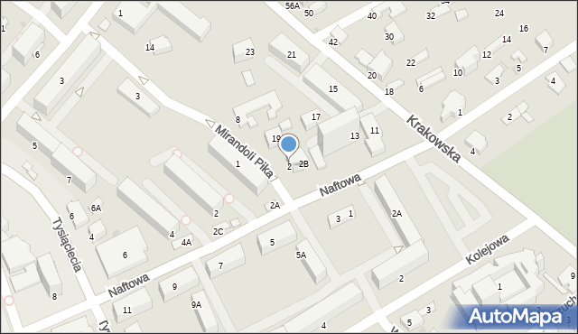 Krosno, Mirandoli Pika, 2, mapa Krosna