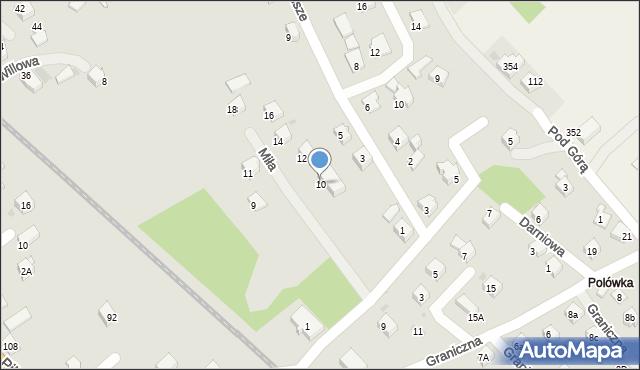 Limanowa, Miła, 10, mapa Limanowa