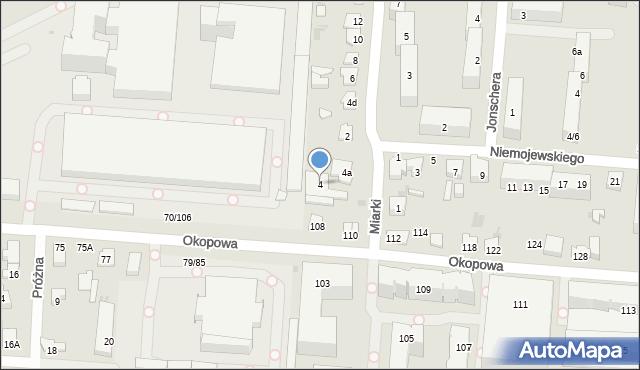 Łódź, Miarki Karola, 4, mapa Łodzi